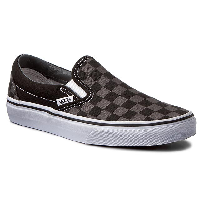 b479bd4c86f84 Tenisówki VANS - Classic Slip-On VN000EYEBPJ Black/Pewter Checkerboard