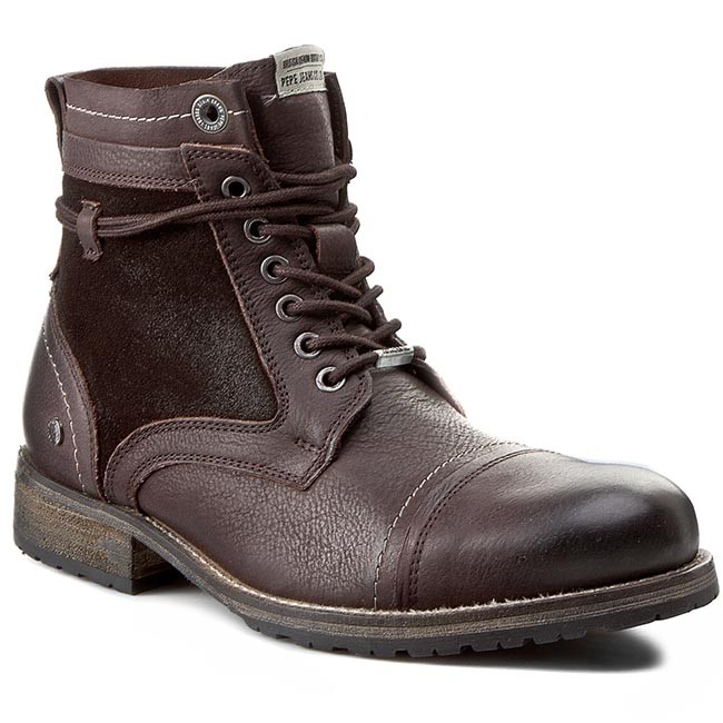 Kozaki PEPE JEANS - Melting Mix PMS50054 Brown 878