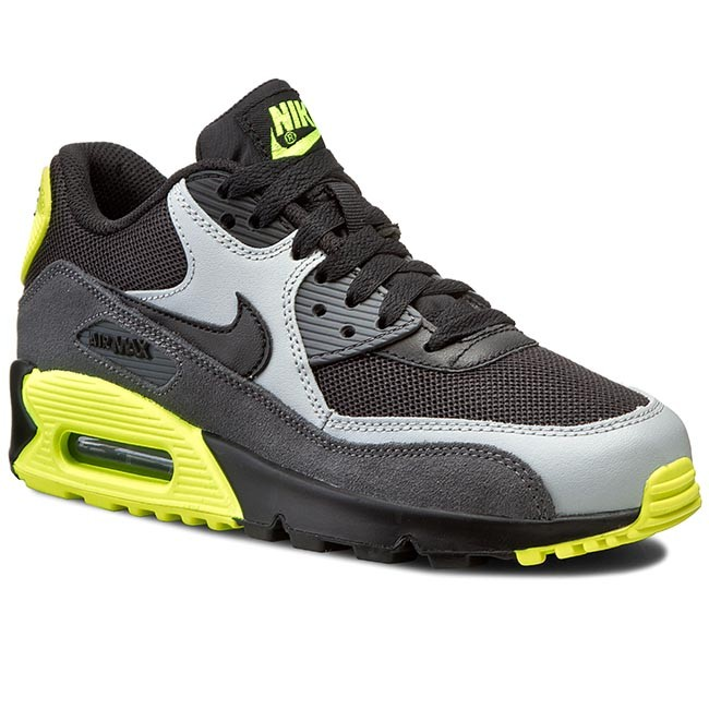 Nike Air Max 90 Mesh (GS) Cool Grey Black Max Orange