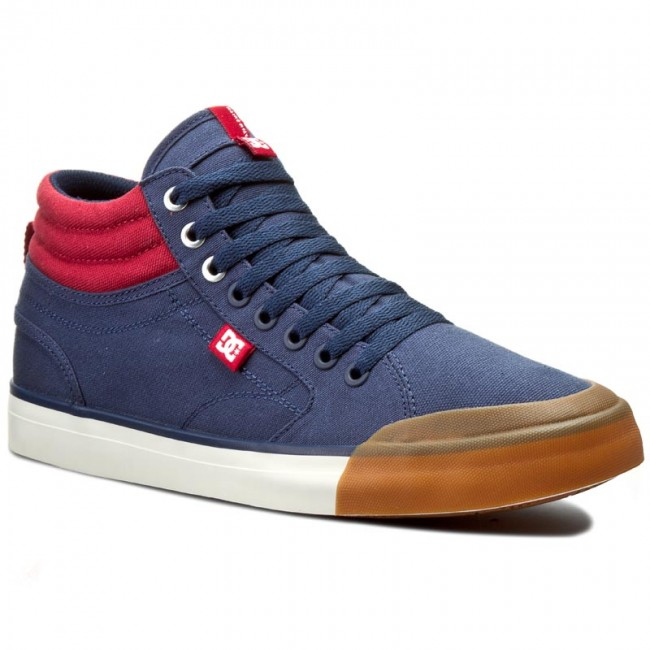 Półbuty DC - Evan Smith Hi ADYS300246 Navy/Red(NRD)