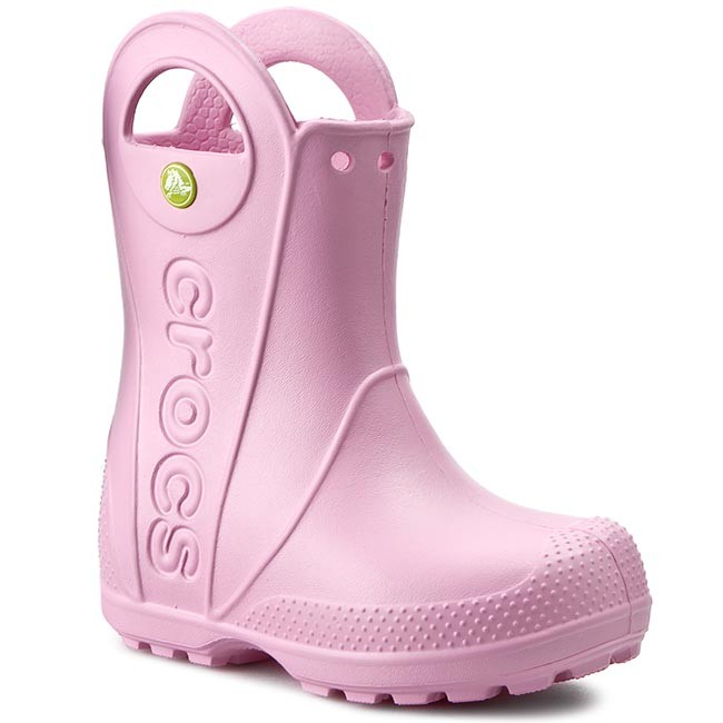 Kalosze CROCS - Handle It Rain Boot Kids 12803 Carnation