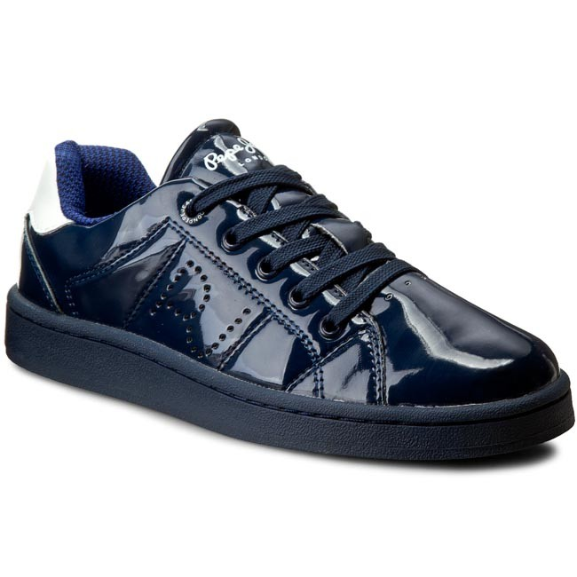 Sneakersy PEPE JEANS - Lane Patent PGS30214  Sailor 580