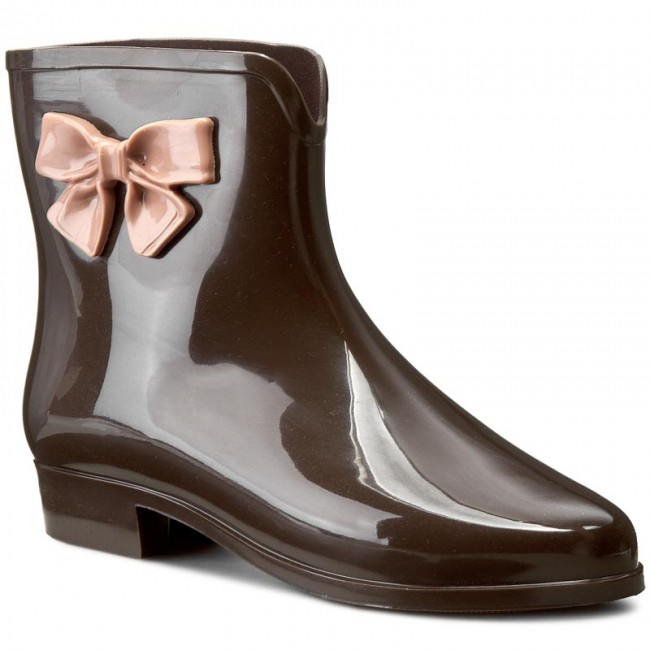 Kalosze MEL BY MELISSA - Mel Ankle Boots Sp Ad 32051 Brown/Pink 51863