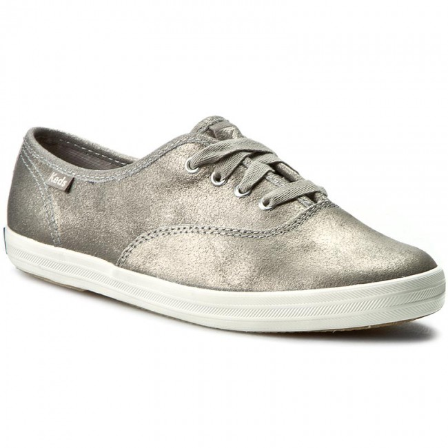 Tenisówki KEDS - Champion Metallic WH54531 Leather Silver