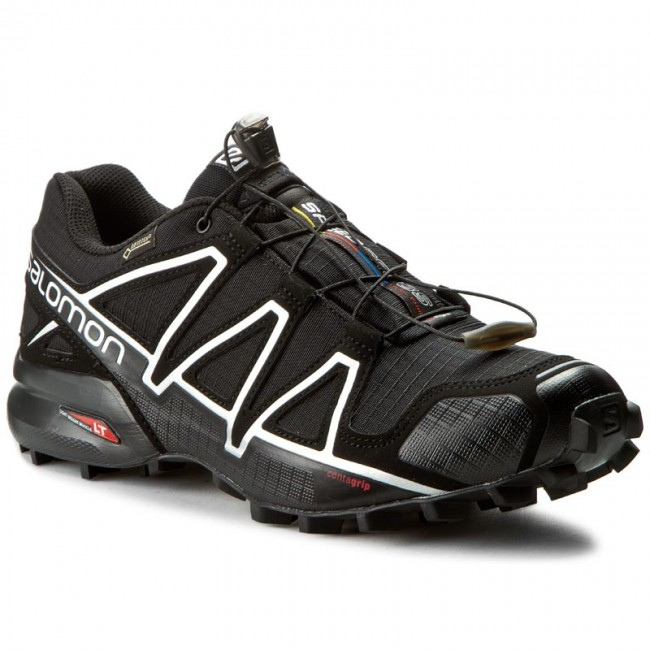 Buty SALOMON Speedcross 4 Gtx GORE TEX 383181 26 G0 BlackBlackSilver Metallic X