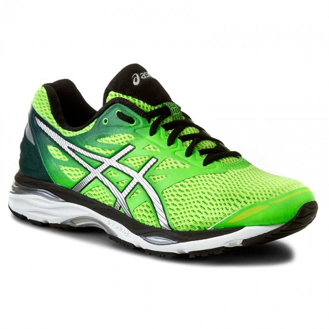Buty ASICS Gel Cumulus 18 T6C3N Green GeckoSilverSafety Yellow