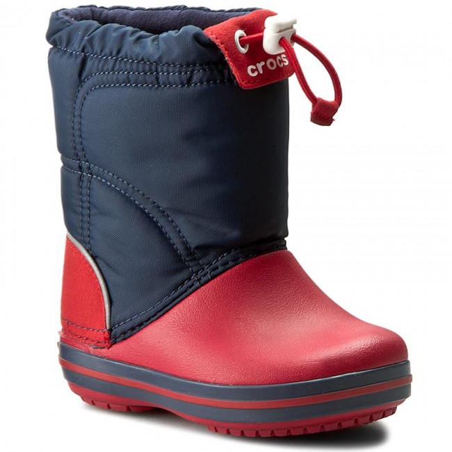 Śniegowce CROCS - Crocband Lodgepoint Boot K 203509 Navy/Red