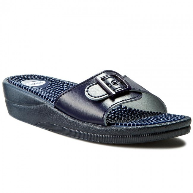 Klapki SCHOLL - New Massage F20054 1040 410 Navy Blue