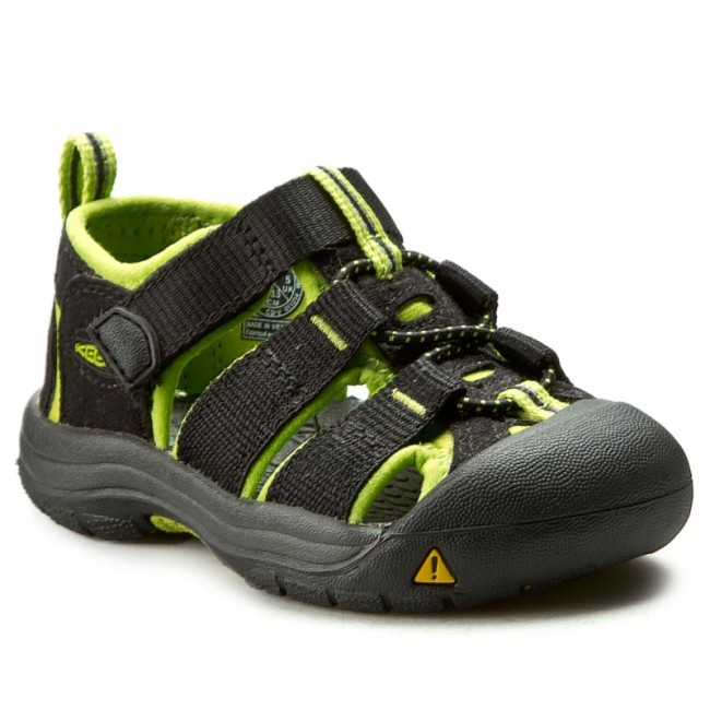 Sandały KEEN - Newport H2 1009922 Black/Lime Green