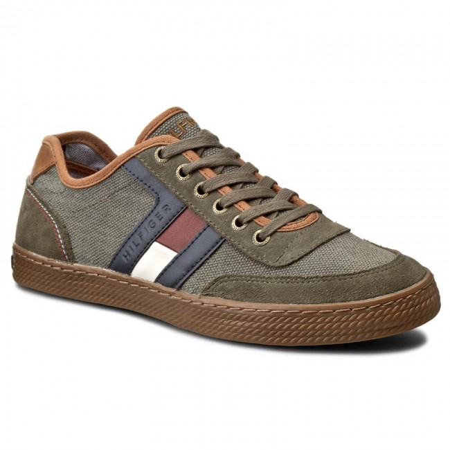 Sneakersy TOMMY HILFIGER - Donnie 10C FM56821340 Dusty Olive 902