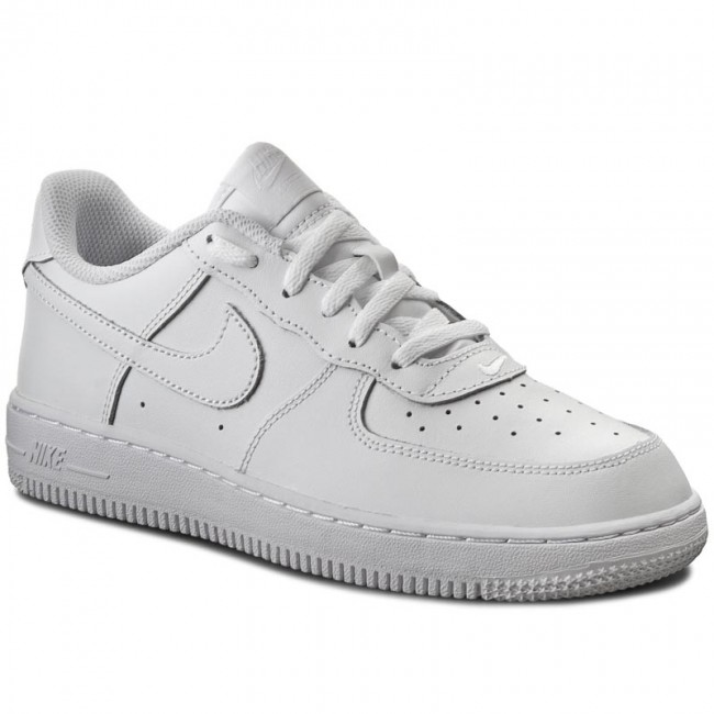 Buty NIKE - Force 1 (PS) 314193 117 White/White/White