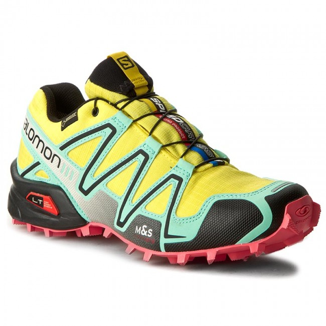 Buty SALOMON Speedcross 3 Gtx W 379063 23 G0 Citrus XBubble BlueMadder Pink