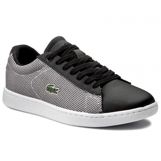 d1fc46855 Sneakersy LACOSTE - Carnaby Evo 117 1 Spw 7-33SPW1010312 Blk/Wht ...