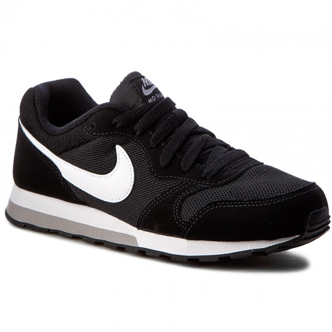 Buty NIKE - Md Runner 2 (GS) 807316 001 Black/White/Wolf Grey