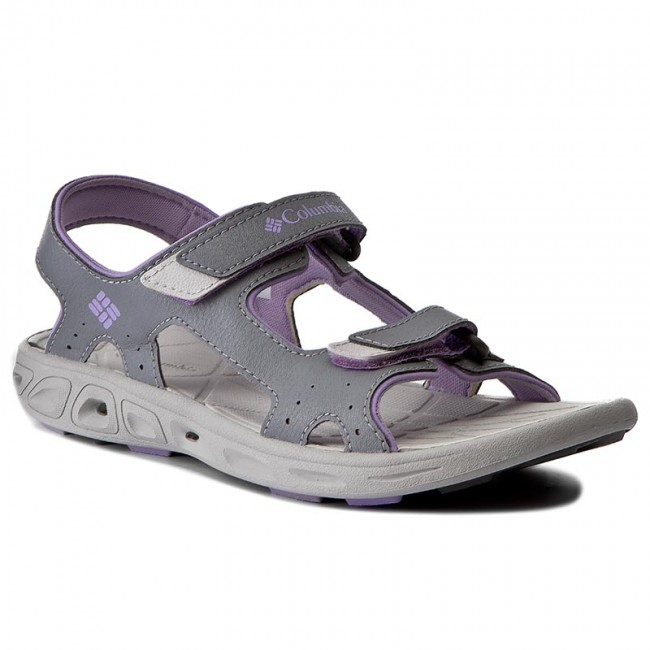 Sandały COLUMBIA - Youth Techsun Vent BY4566 Tradewinds Grey/White Violet 032