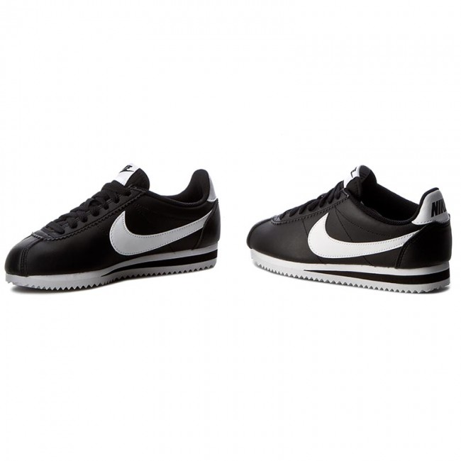 Buty NIKE Classic Cortez Leather 807471 010 BlackWhiteWhite