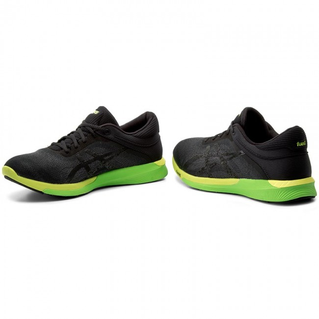 Buty ASICS FuzeX Rush T718N CarbonBlackSafety Yellow 9790