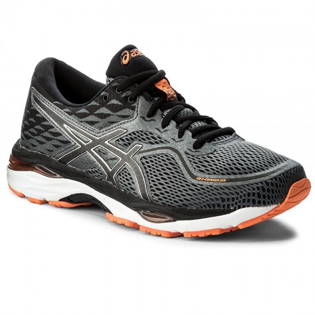 Buty ASICS Gel Cumulus 19 T7B3N CarbonBlackHot Orange 9790