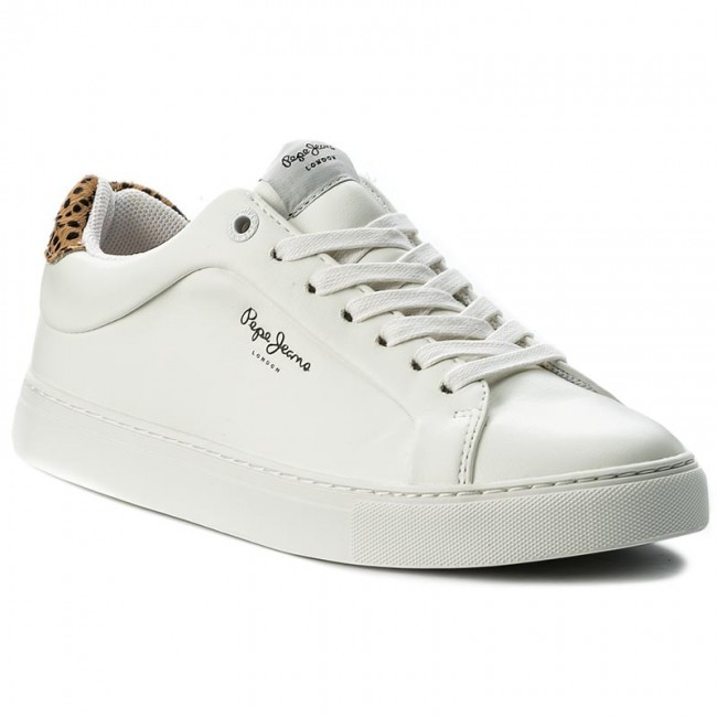 Półbuty PEPE JEANS - Adams Junior PGS30303 White 800