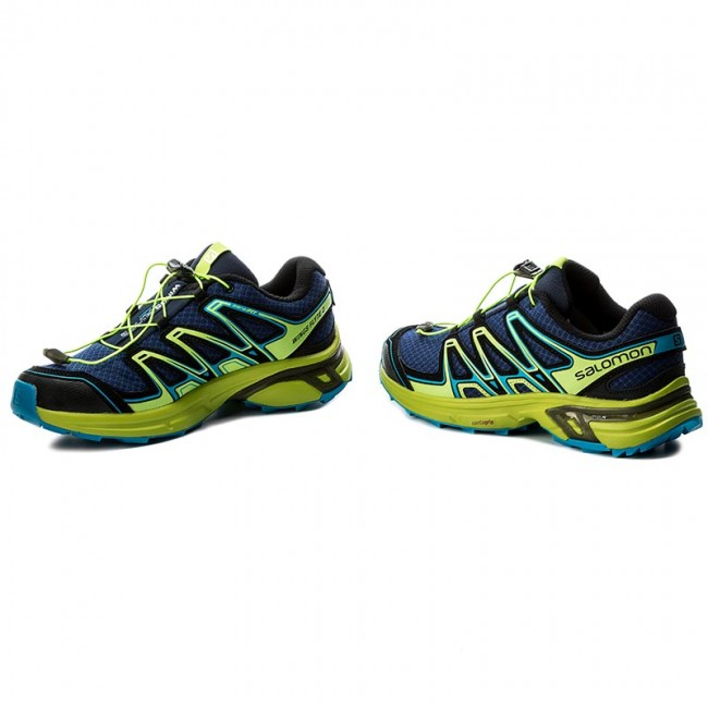Salomon WINGS FLYTE 2 Obuwie do biegania Szlak blue depthslime greenhawaiian surf