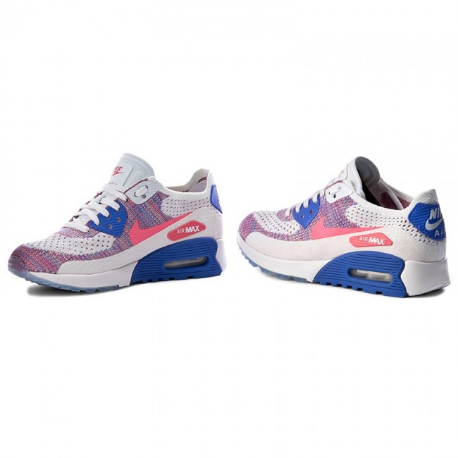 Buty NIKE W Air Max 90 Ultra 2.0 Flyknit 881109 103 WhiteRacer PinkMedium Blue