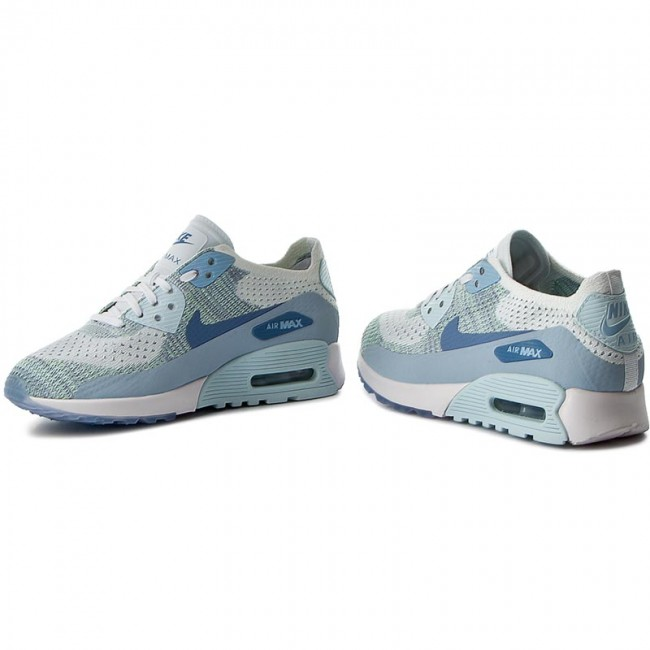 Nike WMNS Air Max 90 Ultra 2.0 Flyknit WhiteLT Armory Blue 881109 105