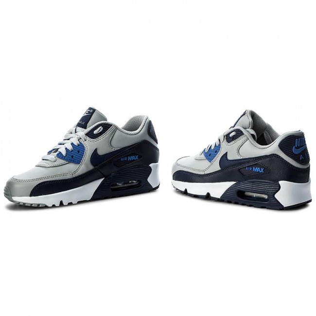 Shoes NIKE Air Max 90 Ltr (Gs) 833412 009 Wolf GreyBinary Blue