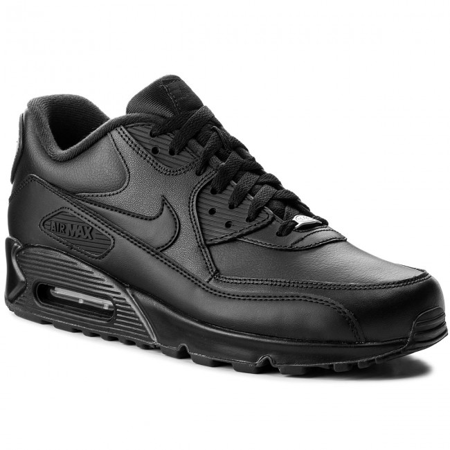Batai NIKE - Air Max 90 Leather 302519 001 Black/Black