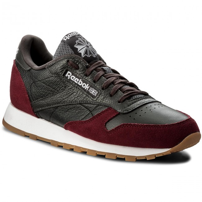 Buty Reebok Cl Leather Gi BS9744 CoalUrban MaroonWhtGum