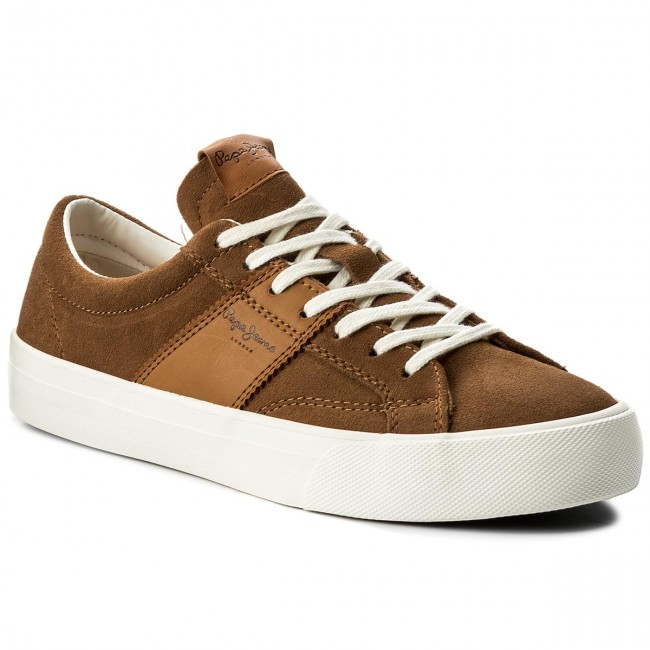 Sneakersy PEPE JEANS - Nolan Suede PMS30388 Tobacco 859