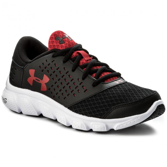 Buty UNDER ARMOUR - Ua Bgs Micro G Rave Rn 1285434-001 Blk/Wht/Red