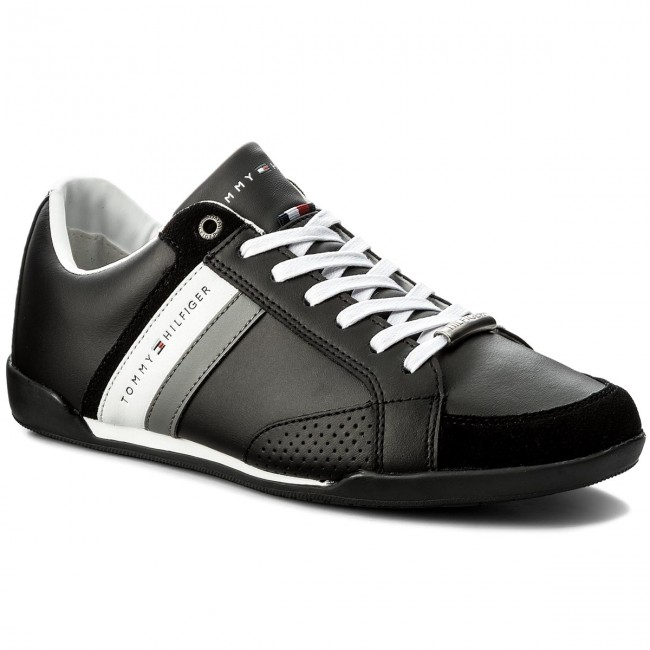 56560921 Sneakersy TOMMY HILFIGER - Corporate Material Mix Cupsole FM0FM01532 Black  990