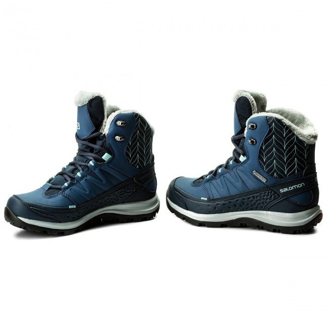 Trekkingi SALOMON Kaina Mid Gtx GORE TEX 391839 20 V0 Deep BlueSlateblueBubble Blue