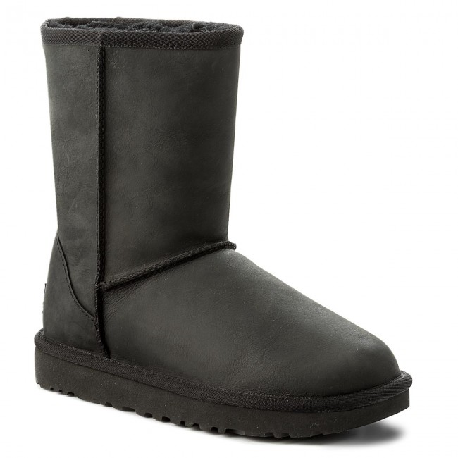 Buty UGG - Classic Short Leather 1016559  W/Blk