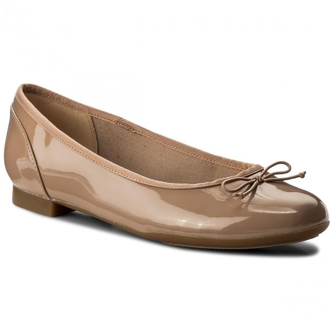 Baleriny CLARKS - Couture Bloom 261339924 Nude Patent
