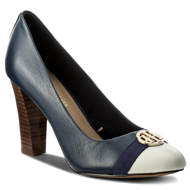 Półbuty TOMMY HILFIGER - Pump With Hardware Decoration FW0FW02579 Tommy Navy 406