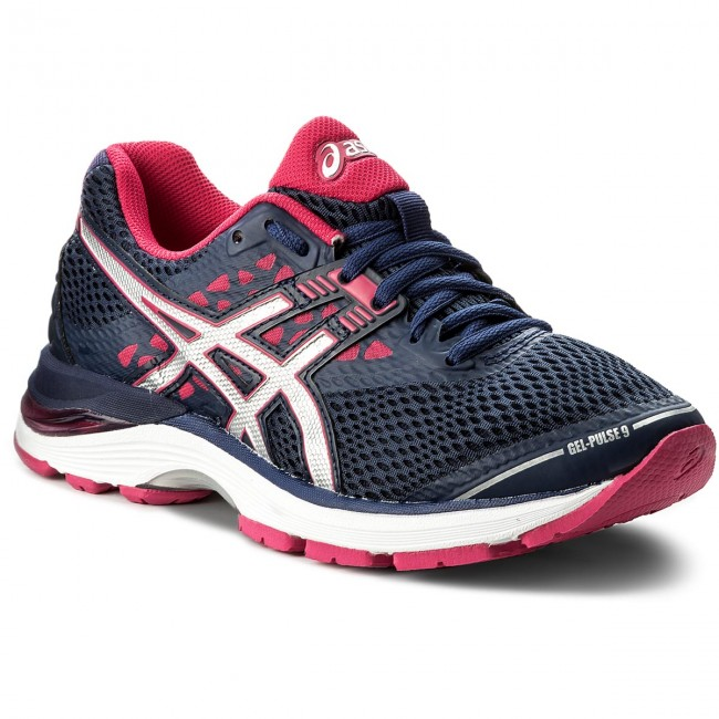 c90ff0be Buty ASICS - Gel-Pulse 9 T7D8N Indigo Blue/Silver/Bright Rose 4993 ...