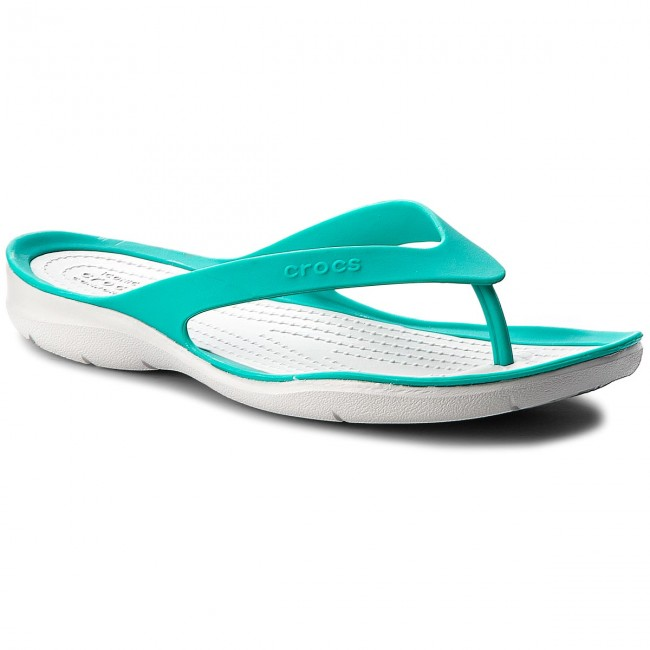 Japonki CROCS - Swiftwater Flip W 204974 Tropical Teal/Pearl White