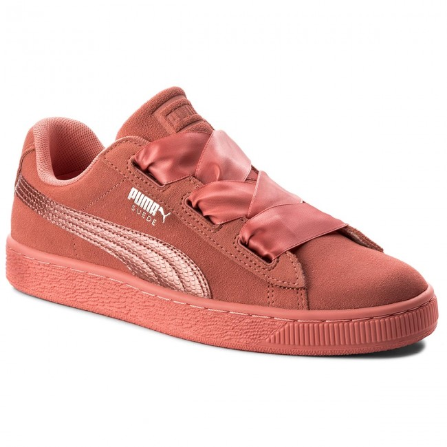 Sneakersy PUMA Suede Heart SNK Jr 364918 05 Shell PinkShell Pink