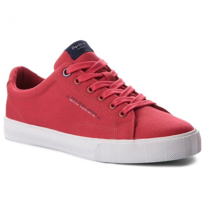 Tenisówki PEPE JEANS - New North Basic PMS30420 Factory Red 220