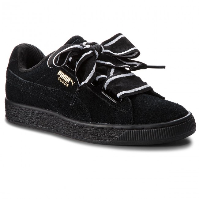 Sneakersy PUMA Suede Heart Satin II 364084 01 Puma Black