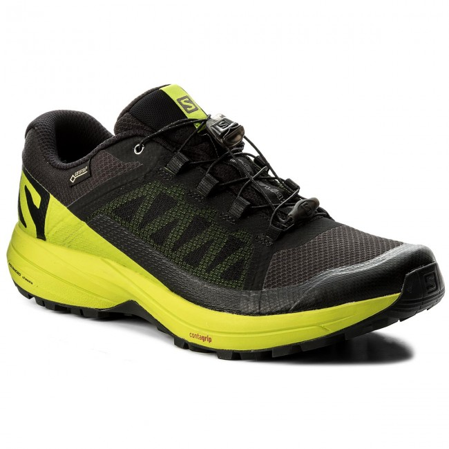 Buty SALOMON Xa Elevate Gtx GORE TEX 401418 31 V0 BlackLime GreenBlack