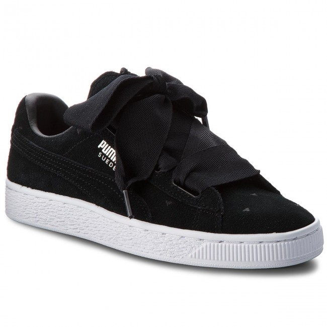 Sneakersy PUMA Suede Heart Valentine Jr 365135 02 Puma BlackPuma Black