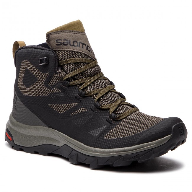 Trekkingi SALOMON - Outline Mid Gtx GORE-TEX 404763 27 V0 Black/Beluga/Capers