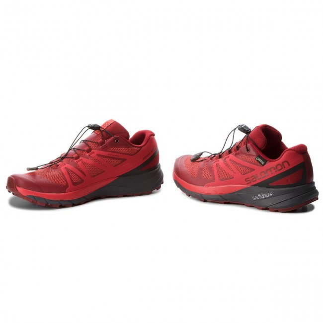 Buty SALOMON Sense Ride Gtx Invisible Fit GORE TEX 404940 27 G0 Red DahliaPhantomHigh Risk Red