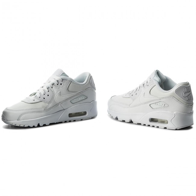 Nike Air Max 90 Leather GS in weiss 833412 100 | everysize