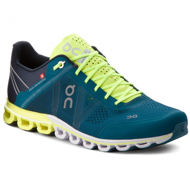 Buty ON - Cloudflow 000015 Petrol/Neon 4329