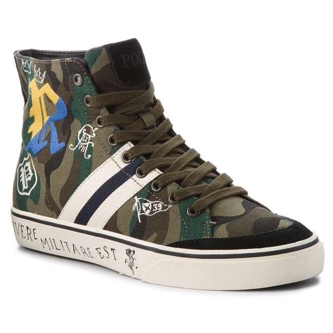 Sneakersy POLO RALPH LAUREN Salomon 816717360001 Olive Camo