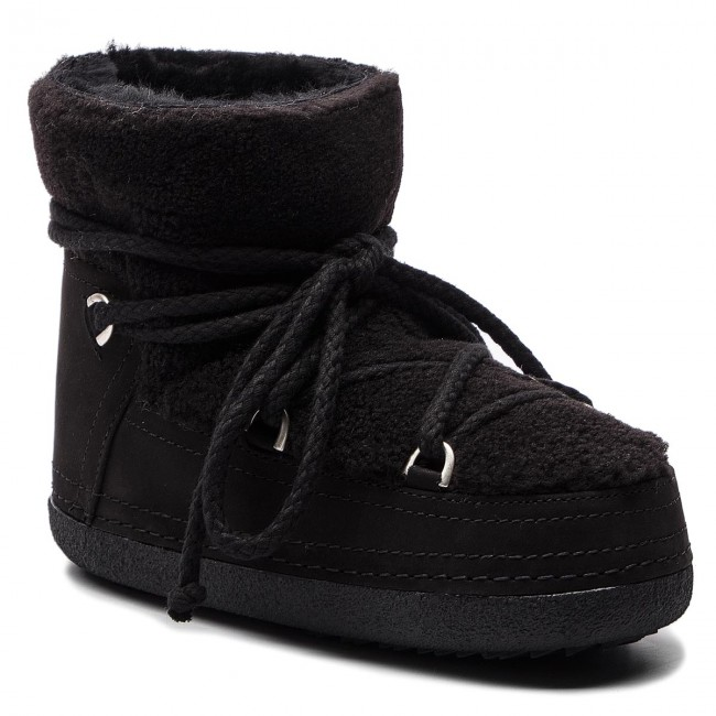 Buty INUIKII - Boot Curly 70101-16 Black/Blk Cot. Laces