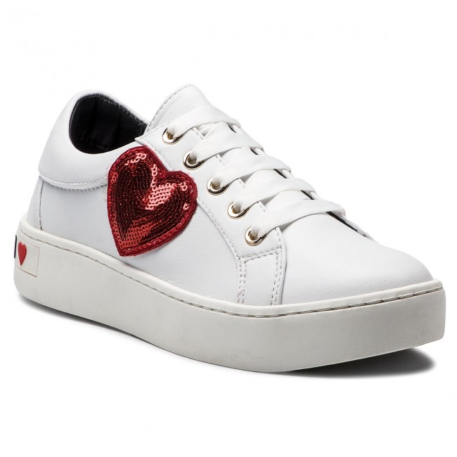 Sneakersy LOVE MOSCHINO - JA15303G06JA0100 Bianco